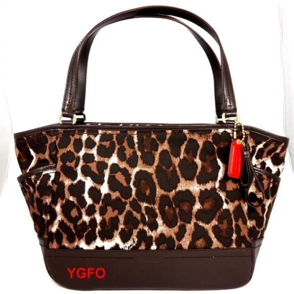 e7afd5f09327 Coach Bags   Nwt Carrie Tote Ocelot Brown Animal Handbag   Poshmark